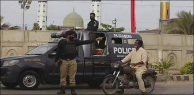 کراچی، پولیس کی لاک ڈاؤن کی خلاف ورزی پر کارروائیاں، 1084 افراد گرفتار