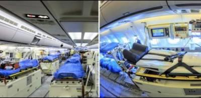 کورونا مریضوں کی دیکھ بھال کیلئے جرمنی کا بڑا فضائی اسپتال