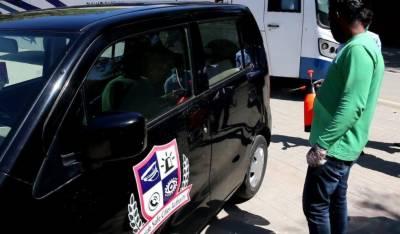 کورونا وائرس سے بچاو کے حفاظتی انتظامات کرتے ہوئےپنجاب سیف سٹیز اتھارٹی کی بسوں اور گاڑیوں میں کلورین سپر ے کیا گیا