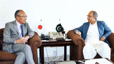 مشیر خزانہ عبدالحفیظ شیخ کی جاپانی سفیر سے ملاقات