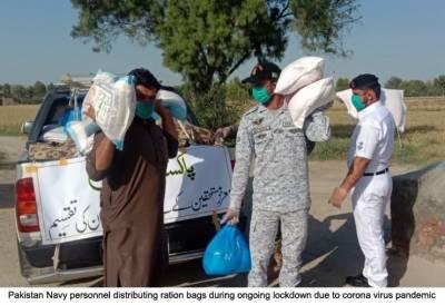 پاک بحریہ کی لاک ڈاون کے دوران ملک بھر میں امدادی سرگرمیاں