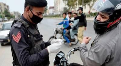 کراچی: لاک ڈائو ن کی خلاف ورزی پر 82 گرفتار، 40 مقدمات درج