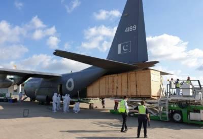 پاک فضائیہ کا سی -130 طیارہ ٹڈی دل کے خاتمے کے لیے اسپرے والا خصوصی جہاز لانے کے لیے ترکی پہنچ گیا