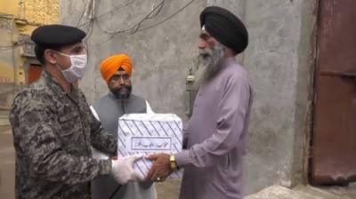 پاکستان رینجرز پنجاب کی سکھ اور ہندو برادریوں میں راشن کی تقسیم