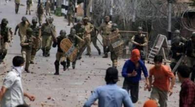مقبوضہ کشمیر : بھارتی فوج اور پولیس کاپرامن مظاہرین کیخلاف طاقت کا وحشیانہ استعمال،متعدد افراد زخمی