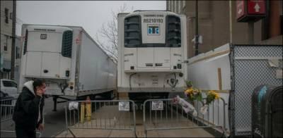 کرونا مریضوں کی لاشیں رکھنے والے ٹرک میں کھانے کی فراہمی
