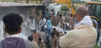 بھارت لاک ڈاؤن : خوفناک ٹریفک حادثہ : 24 افراد ہلاک، درجنوں زخمی