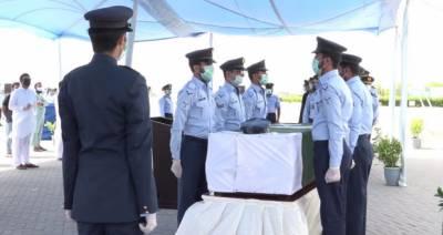 شہید زین العارف پی اے ایف بیس کورنگی کریک قبرستان میں سپرد خاک