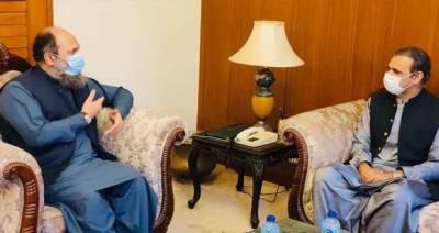 وزیراعلیٰ بلوچستان سے عاصم سلیم باجوہ کی ملاقات، سی پیک منصوبوں پر تبادلہ خیال
