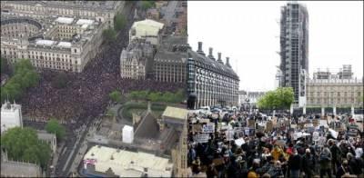 نسلی تعصب اور پولیس تشدد کے خلاف برطانیہ میں آج پھر احتجاج
