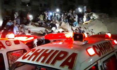 کراچی،رہائشی عمارت گر گئی،ملبہ سے ایک شخص کی لاش اور 4زخمیوں کو نکال لیا گیا
