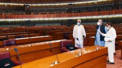 قومی اسمبلی اجلاس،سپیکر کا نشستوں کے نئے انتظامات پر اظہارِ اطمینان