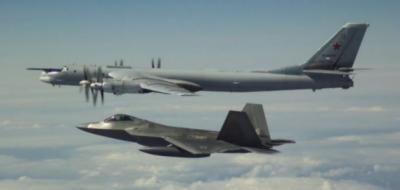 امریکی جنگی طیاروں نے 4 روسی بمبار طیارے فضا میں روک لیے
