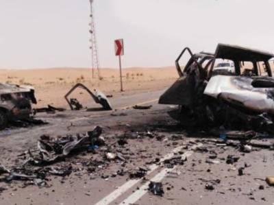 سعودی عرب میں ٹریفک کا خوفناک حادثہ، ایک ہی خاندان کے تمام افراد جاں بحق
