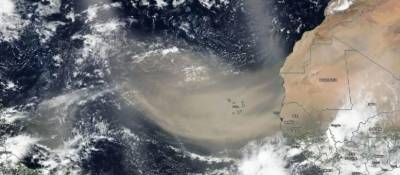 افریقا کے صحرائے اعظم سے اٹھنے والی دھول جزائر غرب الہند کے ملکوں پر چھانے لگی