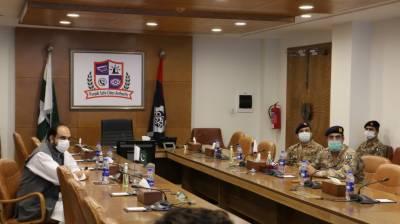ملٹری کمانڈ لاجسٹک 10ڈویژن کے وفد کا پنجاب سیف سٹیز اتھارٹی کا دورہ