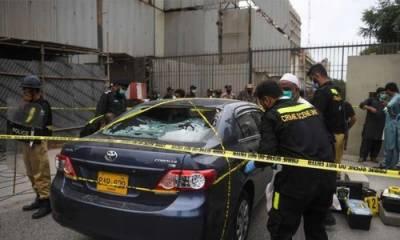 پاکستان اسٹاک ایکسچینج کی عمارت پر حملہ: سب انسپکٹر اور4سیکیورٹی گارڈسمیت6افراد جاں بحق، 4دہشتگرد ہلاک