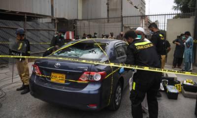 پاکستان سٹاک ایکسچینج حملے میں استعمال ہونیوالی گاڑی طارق روڈ سے خریدنے کا انکشاف