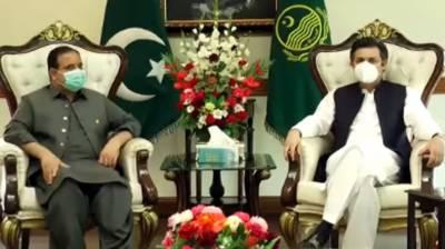 وزیراعلیٰ پنجاب اور حماد اظہر کا عوام کی فلاح و بہبود کے منصوبوں پر تبادلہ خیال