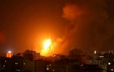 سرائیلی فوج کی غزہ کی پٹی پر جنگی طیاروں سے بمباری