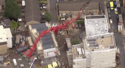لندن:کرین گرنے سے ایک شخص ہلاک، 4 زخمی