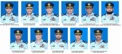 حکومتِ پاکستان کی پاک فضائیہ کے ایک ائیر آفیسر کو ائیر مارشل اوردس افسران کو ائیر وائس مارشل کے عہدوں پر ترقی