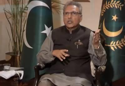 وزیراعظم عمران خان نے بی جے پی کوبجاطورپرفسطائی جماعت قراردیاکیونکہ وہ ہندوبالادستی کے ایجنڈے پرعمل پیراہے:صدرمملکت