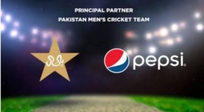 پی سی بی نے پیپسی کو پاکستان کرکٹ ٹیم کا پارٹنر مقررکردیا