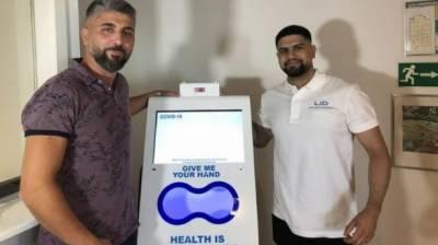دنیا میں پہلی بار ترک کمپنی کے تیار کردہ ہینڈ ڈس انفیکشن ڈیوائس کی سویڈن میں نمائش