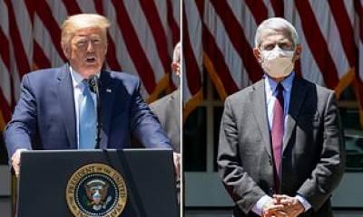 ماسک پہننے پر امریکی صدر اور ڈاکٹر فاؤچی ایک مرتبہ پھر آمنے سامنے