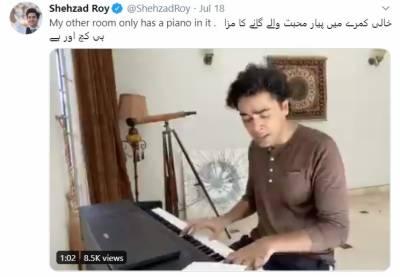 شہزاد رائے نے نازیہ حسن کا گانا گا کر مداحوں کے دل جیت لیے