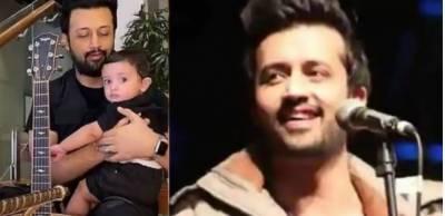 عاطف اسلم کی چھوٹے بیٹے کے ساتھ گٹار بجاتے کی ویڈیو جاری