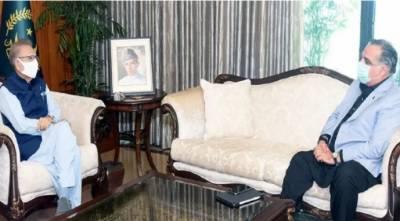 گورنر سندھ کی صدر مملکت ڈاکٹر عارف علوی سے ملاقات