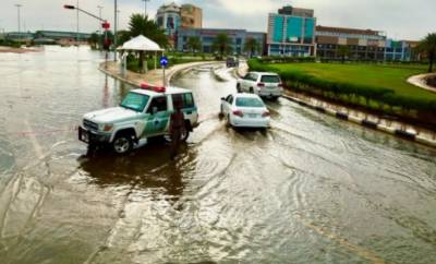سعودی عرب ، جازان اور نجران میں طوفانی بارش ، سیلابی صورتحال