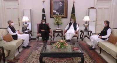وزیراعلی پنجاب سے سپیکر قومی اسمبلی اسد قیصر اور پرویز خٹک کی ملاقات