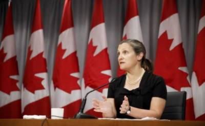 کینیڈا کی نائب وزیراعظم کریسٹیا فری لینڈ ملک کی پہلی خاتون وزیر خزانہ تعینات