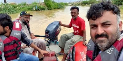 کراچی : ایدھی بحری خدمات کی کشتی الٹ گئی