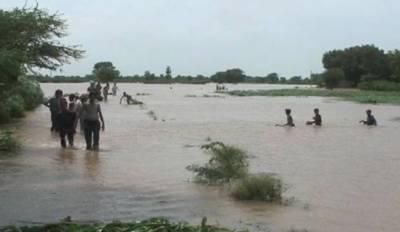 دریائے چناب میں پانی کی سطح بلند ہو گئی، جھنگ میں 30 سے زائد دیہات زیر آب