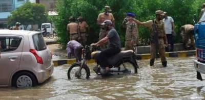 کراچی کے مختلف علاقوں میں ڈی واٹرنگ کا کام کیا جا رہا ہے،آئی ایس پی آر
