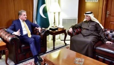 وزیر خارجہ سے سعودی عرب کے سفیر کی ملاقات