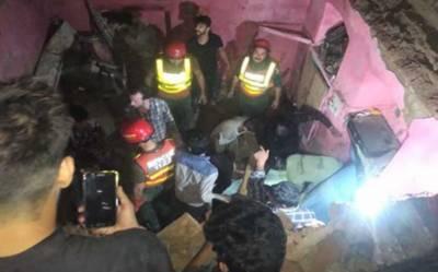 ٹیکسالی میں مکان کی چھت گر گئی،6افراد جاں بحق،4زخمی