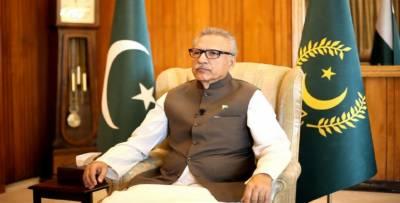 پاکستانی اورکشمیری یک جان دوقالب ہیں جو کبھی جدا نہیں ہوں گے :صدرڈاکٹرعارف علوی