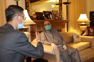چین کے سفیر نے سابق صدر کو علاج کیلیئے چین آنے دعوت دی