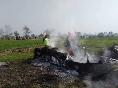 پاک فضائیہ کا طیارہ پنڈی گھیب کے قریب گر کر تباہ، پائلٹ محفوط رہا