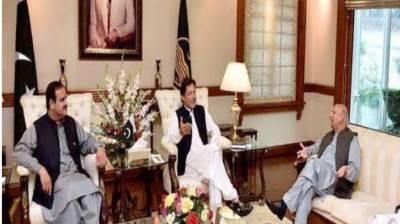 گورنر اور وزیراعلیٰ پنجاب کی وزیراعظم سے ملاقات ، صوبے کی صورتحال پر بات چیت