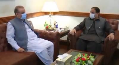 وزیر اعلیٰ پنجاب عثمان بزدار سے سینئر صوبائی وزیر عبدالعلیم خان کی ملاقات