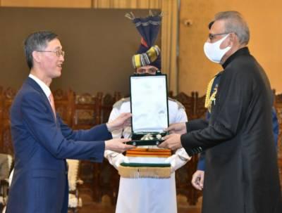صدر عارف علوی نے سبکدوش چینی سفیر کو سول ایوارڈ سے نوازدیا