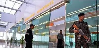 اسلا م آباد ایئرپورٹ پرپاکستانی نژاد برطانوی شہری سےاسلحہ برآمد