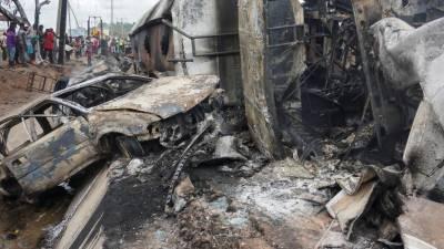 نائیجیریا:گیس ٹینکر میں دھماکا،9 بچوں سمیت 28 افراد ہلاک،متعدد زخمی