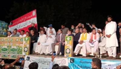 پاکستانی ہندو برادری کا جودھ پور واقع پر اسلام آباد میں بھارتی ہائی کمیشن کے سامنے دھرنا